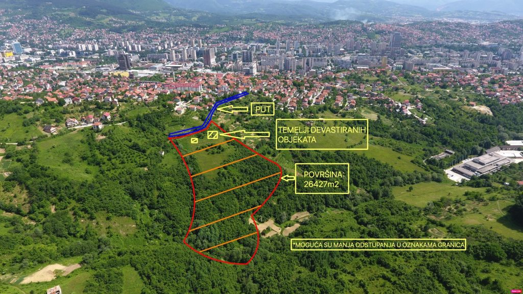 Prodaje se zemljište: SARAJEVO – Ul. Humska